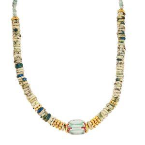 collier femme surfeur perles pierres naturelles tendance bijoux