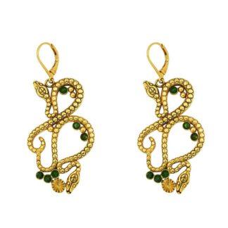 boucles d'oreilles femme serpent tendance