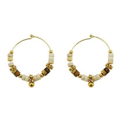 boucles d'oreilles femme tendance perles créoles