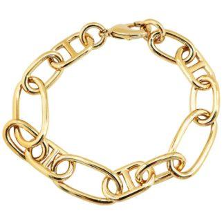 bracelet maille classique dorée femme bijoux tendance