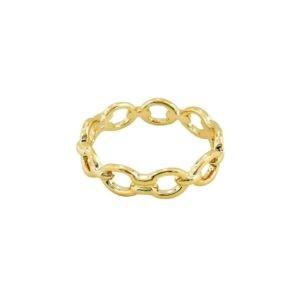 bague rigide maille dorée plaqué or femme