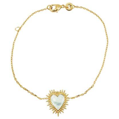 bracelet tendance femme doré coeur