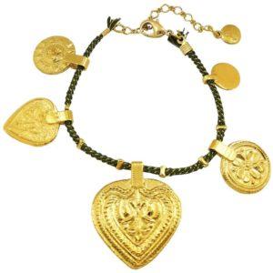 bracelet cordon kaki femme tendance By Garance