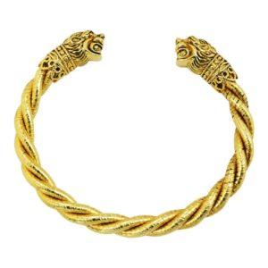 bracelet tendance femme torsadé doré