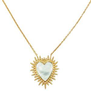 collier tendance femme pendentif coeur
