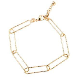 bracelet femme tendance plaqué or