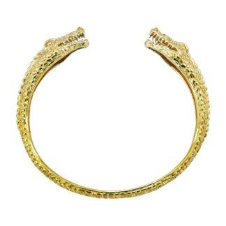 bracelet jonc doré crocodile bijoux tendance