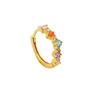 boucle d'oreille mono unité oxydes femme bijoux tendance