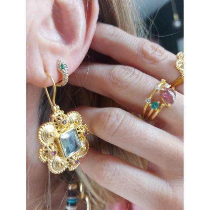boucles d'oreilles indiennes anciennes Diaperis Paris