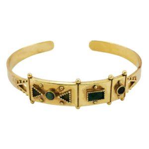 bracelet laiton pierres LA2L bijoux
