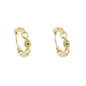 boucles d'oreilles dorées chaîne femme