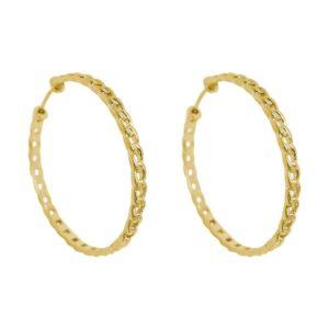 boucles d'oreilles créoles plaqué or