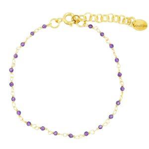 bracelet femme Inde Une à Une violet
