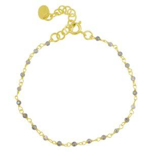 bracelet chaîne perles en pierres