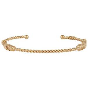 bracelet fin torsadé Gas Bijoux