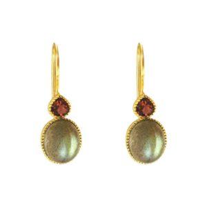 boucles d'oreilles femme pendantes pierres