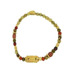 bracelet femme doré tendance pierres naturelles